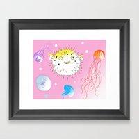 Little Fugu Framed Art Print