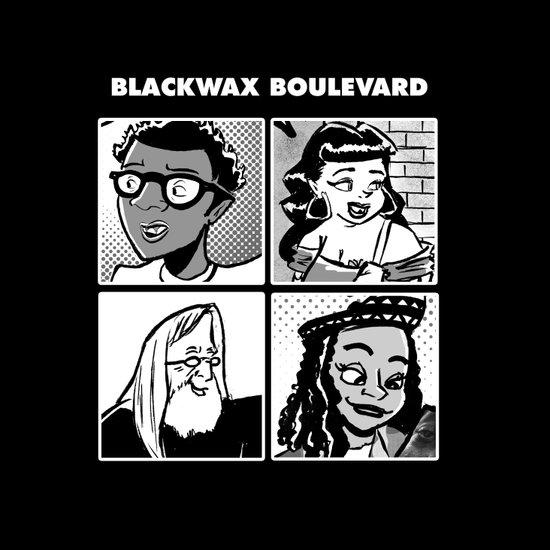 Blackwax Boulevard Album Cover  Art Print