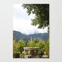 Fountain in the Mountains Canvas Print