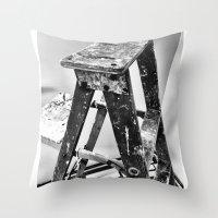 Painter's Ladder Throw Pillow