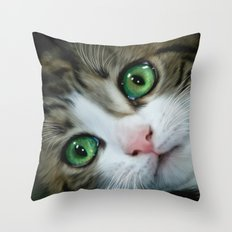 Kitty Cat Throw Pillow