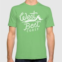 West Coast is the Best Coast Mens Fitted Tee Grass SMALL