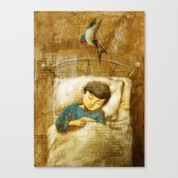 The Boy and the Swallow Canvas Print