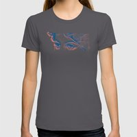 Stares to Nowhere Womens Fitted Tee Asphalt SMALL