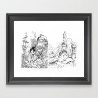 Promenade dans la montagne - Walking in the mountains Framed Art Print