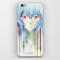 Rei Ayanami from Evangelion Digital Mixed Media iPhone & iPod Skin
