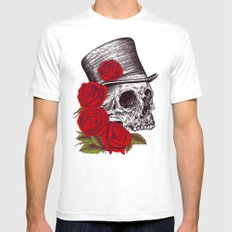 Dead Gentleman Mens Fitted Tee White SMALL