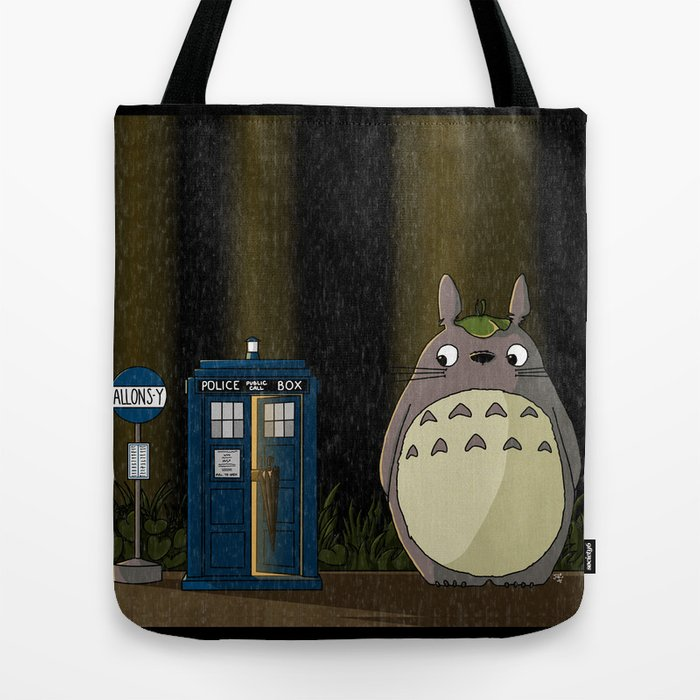 Allons-y Totoro alternate Tote Bag
