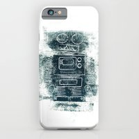 iPhone & iPod Case featuring Robot Robot by David Finley