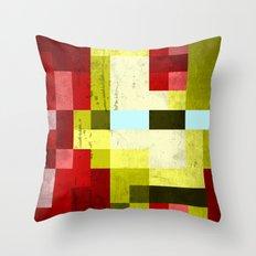 battle-damaged iron man Throw Pillow