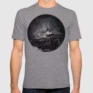Dark Voyage Mens Fitted Tee Tri-Grey SMALL
