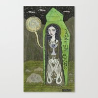 Snow White In Her Glass … Canvas Print