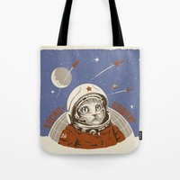 Soviet Space Cat Tote Bag