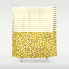 staklo (gold) Shower Curtain
