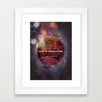 Lost In Translation - Bo… Framed Art Print