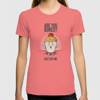 Are you bored? Just eat me! Womens Fitted Tee Pomegranate SMALL