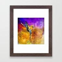 Dazzling Macaw Framed Art Print
