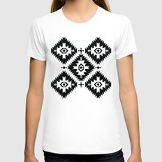 NavNa BW Womens Fitted Tee White SMALL