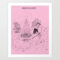 Bonfire For A Loner Art Print