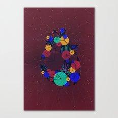 Data Heart Canvas Print