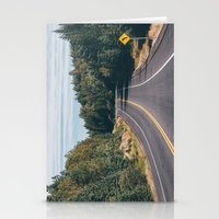turn left Stationery Cards