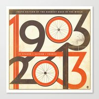 100 Years of The Tour de France Canvas Print