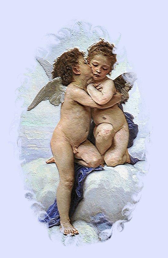 Bouguereau-First Kiss Art Print