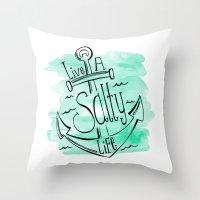 Live A Salty Life Throw Pillow