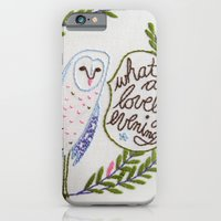 Owl in ferns iPhone 6 Slim Case