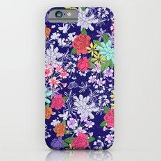 Blue Floral Slim Case iPhone 6s