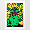 Space Monster Art Print