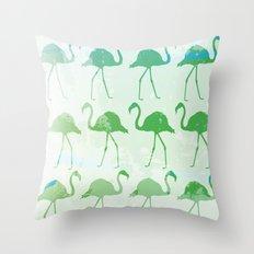 Flamingo Mist Throw Pillow