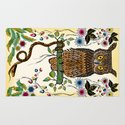 Vibrant Jungle Owl and Snake Rug