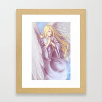 Lavender Angel Framed Art Print