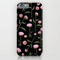 Peonies On Black iPhone 6 Slim Case