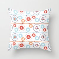 Kaleidoscope Stripes Throw Pillow