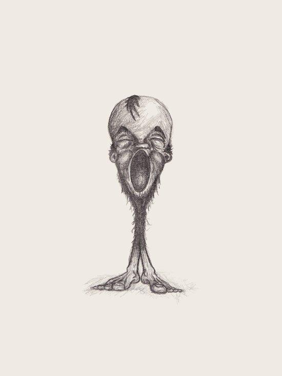 Barbate Yawnman Art Print