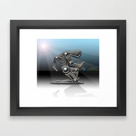 Framed Art Print featuring Ferrum by Kevin Rogerson