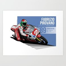 Fabrizio Pirovano - 1989 Donington Park Art Print