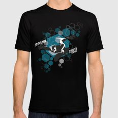 2099 // blue SMALL Black Mens Fitted Tee