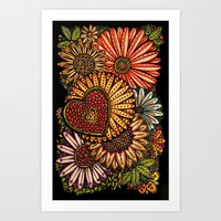 I Love Flowers Art Print