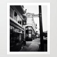 Jack Kerouac Alley Art Print