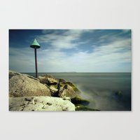 Breakwater Rocks Canvas Print