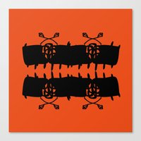 Orange AbstractArtwork Canvas Print