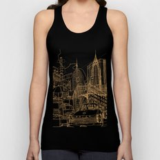 New York! Night Unisex Tank Top
