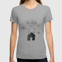 Deer Home Womens Fitted Tee Athletic Grey SMALL