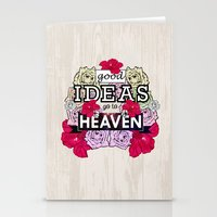Good Ideas Go To Heaven Stationery Cards