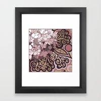 Hortensia Autumn Framed Art Print