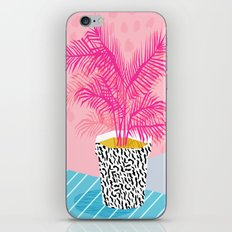 No Can Do - hipster abstract neon 1980s style memphis print palm springs socal los angeles desert iPhone & iPod Skin