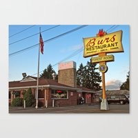 Canvas Print featuring Classic restaurant by Vorona Photography